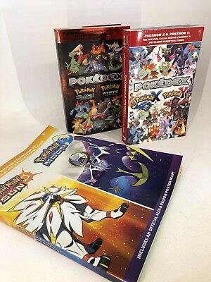 Pokemon - Poked Book Lot - X & Y and Black & White PLUS Sun & Moon Strategy Book