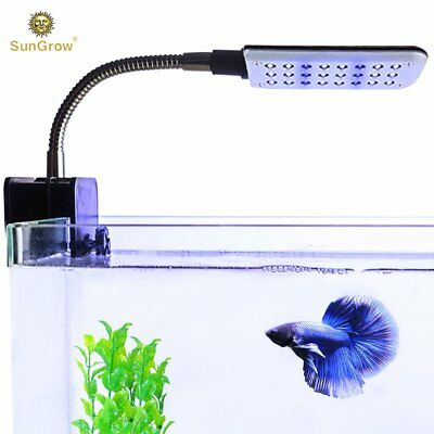 SunGrow Betta LED Light - Soothing light,Flexible Metal Arm,Illuminate fish tank