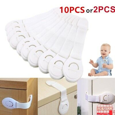 10x Kids Child Baby Proofing Safety Lock Door Fridge Cupboard Cabinet Drawer Pet