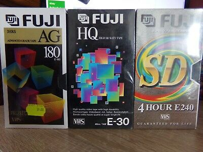 3 x Cassette Video Vierge FUJI pour Magnetoscope - K7 VHS Neuf