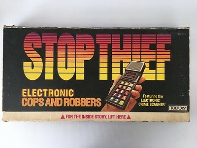 Vintage 1979 Stop Thief Electronic Cops and Robbers by Toltoys Tested Working