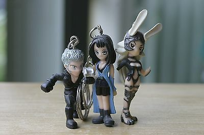 Mixed Final Fantasy Characters Mini Keychain Lot Loz, Rinoa & Fran