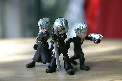 Final Fantasy VII Advent Children Mako Brothers Keychains Kadaj, Loz & Yazoo