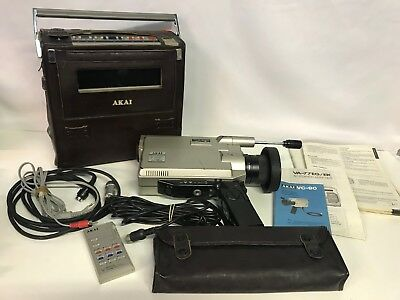 Vintage Akai VC-80E Portable Camera + Video Cassette Recorder VP-77EG