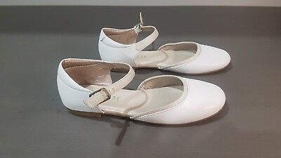 Girls First Holy Communion Dress Shoes - Size 3 & 34 White