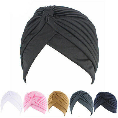 Fashion Men Women Stretchable Soft Indian Style Turban Hat Head Wrap Band SexyGX