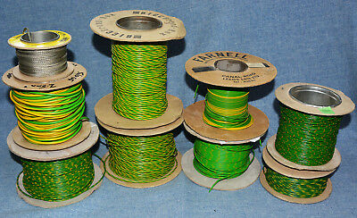 Earthing Equipment Wire, Various Sizes. (Lot Of 9 Rolls)