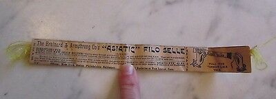 Antique 1898 Brainerd & Armstrong Asiatic Filo Selle Silk Thread Skein Holder