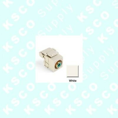 Leviton Quickport 40735-RRG RCA red 110 type gray