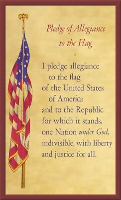 "Pledge of Allegiance to the Flag 5""X8"" Magnetic Laminated Flexible Sign/Poster"