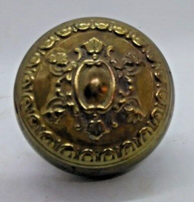 One Antique Brass Ornate Eastlake Victorian Door Knob