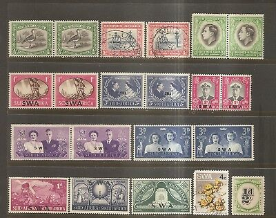 British Commonwealth - Older Stamps From South West Africa.