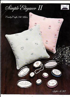 EMBROIDERY : MALMOE PILLOWS  AND PAPERWEIGHTS  Simple Elegance Country Crafts