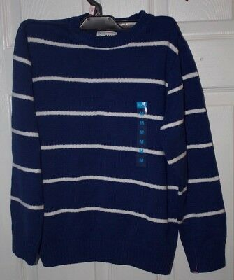 The Children's Place Blue & White Sweater Medium M 7/8 NWTs