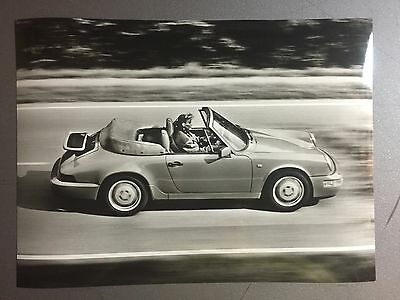 1990 Porsche Carrera 2 Cabriolet B&W Press Photo Factory Issued RARE!! Awesome