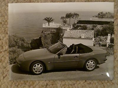 "1990 Porsche 944 S2 Cabriolet B&W Press ""Werkfoto"" Photo Factory Issued RARE!!"