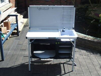 Outwell Sudbury Kitchen Table Outwell sudbury kitchen table 2017 model rrp 10999 8499 outwell 530090 drayton camp kitchen table unit with 12v pump tap water carrier workwithnaturefo
