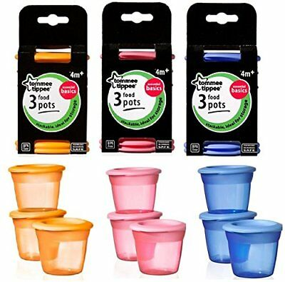 Tommee Tippee Food Pots and Lids x9