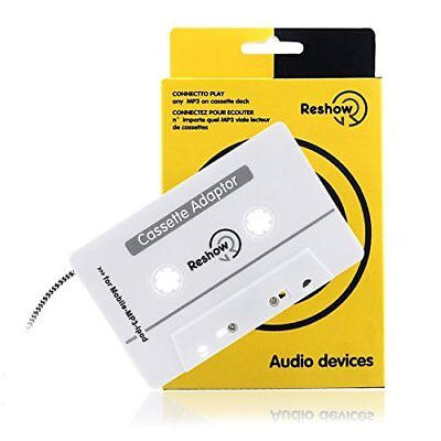 Reshow Travel Cassette Adapter for Cars  Listen to iPods, Smartphones, MP3 Play