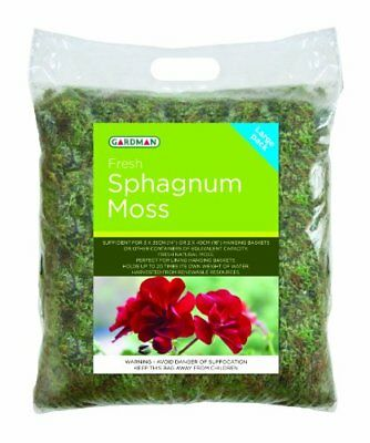 Fresh Sphagnum Moss - Large Pack