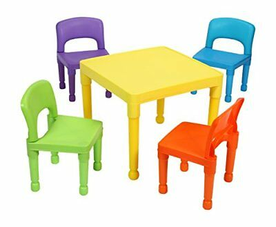 Liberty House Toys Childrens Table and 4 Chairs Set, Plastic, Multi-Colour