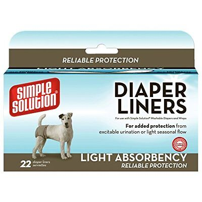 Simple Solution Disposable Dog Diaper Liners Light Absorbency - 22 Pack