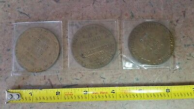 Antique Brothel Tokens Lot of 3, Collectible, RARE