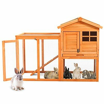Wooden RabbitGuinea Pig Hutch Pet House Bunny Hutch House Chicken Coops Cages R