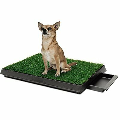 Indoor Pet Toilet Dog Grass Restroom Potty Training with Tray and Loo Pad