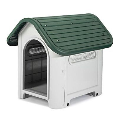 Petology Deluxe Small Plastic Pet Kennel 750mm x 592mm x 660mm Small Sized Dog