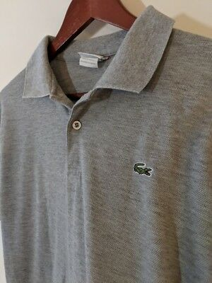 LACOSTE gray polo, Youth size 7 (large)