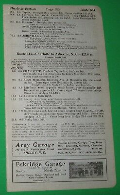 1920 BB6 Ads Shelby North Carolina Rutherfordton North Carolina Chimney Rock NC