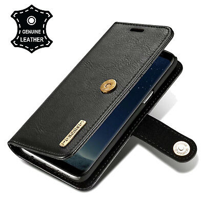 Genuine Leather Multi-function Large Capacity Wallet Design Samsung S9/Plus Case