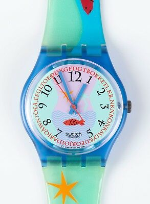 1992 Swatch Watch GN118 Hookipa; New old stock. In original retail case.