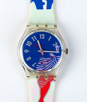 1992 Swatch Watch GK147 Gruau; New old stock. Original Retail Case.