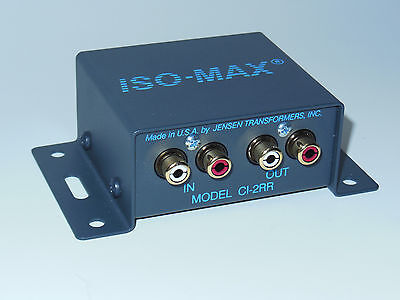 Jensen Iso-Max CI-2RR 2Ch Stereo Audio RCA Ground Loop Isolator Transformers
