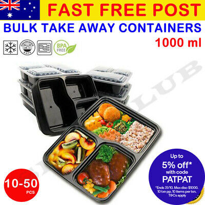 10-50X Meal Prep Plastic Food Storage Containers Freezer Microwavable Lunch Box