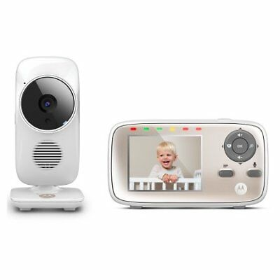 New Motorola Mbp667 Connect Video Baby Monitor + Wi-Fi Internet Viewing White