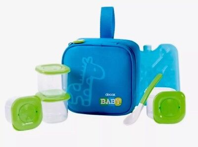 Decor Baby Blue 7 Piece Feeding Set. Bpa Free. New.