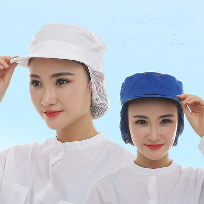 Unisex Catering Hat Chef Bakers Bouffant Cap Food Hygiene Snood Dust-proof New