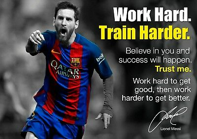 Lionel Messi Barcelona Poster #21 - Motivational inspirational quotes A4