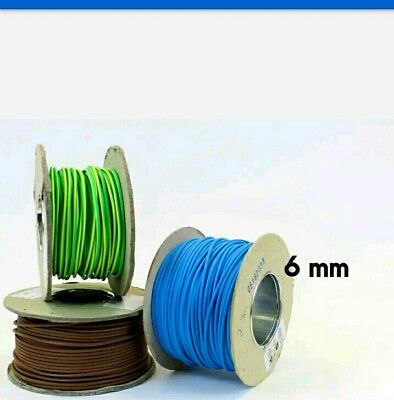 6mm Single core electric cables  BRAND NEW!