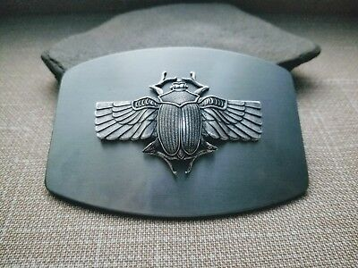 Handmade Antique Silver Steampunk Scarab Belt Buckle