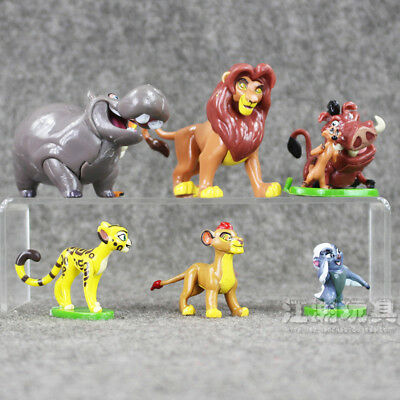 6pcs Cute The Lion King Simba Mufasa Figures Toy Kids Cake Toppers Doll Kids