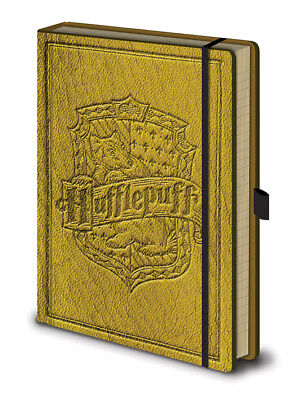 Harry Potter Hufflepuff Premium A5 Notebook, leather effect, official licensed