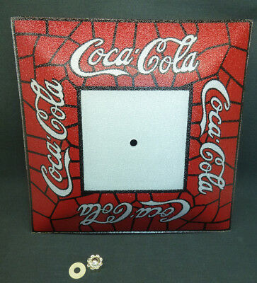 Coke Cola Ceiling Light Stained Glass Square Shade With Pebble Finish