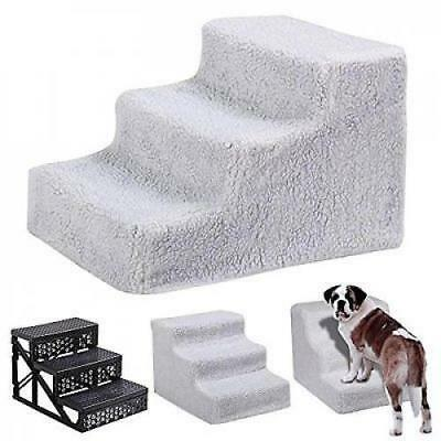 tinkertonk Pet Stairs 3 Steps Stairs Dog Cat Steps Pet Ramp Ladder Portable