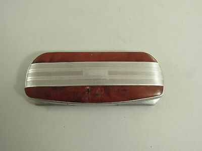 Vintage Art Deco Aluminum Eyeglasses Snap Case American Optical