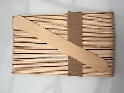 10 Boxes X 100 SPATULAS PROFESSIONAL DISPOSABLE WOODEN WAXING WAX STICKS