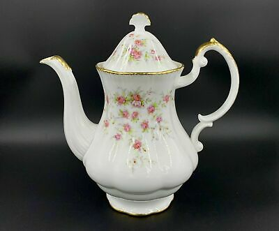 Paragon Victoriana Rose Coffee Pot Large Bone China England